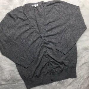 VINCE 100% Cashmere cardigan sz L gray
